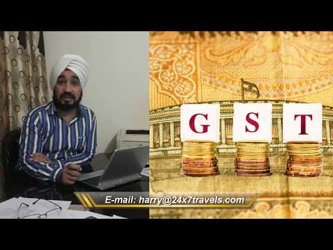 Goods & Service Tax GST  - Tourism Industry
