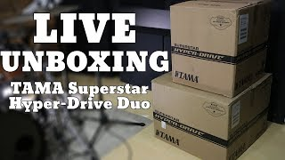 LIVE Unboxing   TAMA Superstar Hyper-Drive Duo Drum Set