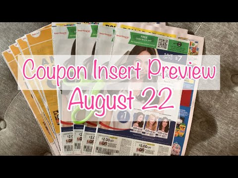 COUPON INSERT PREVIEW AUGUST 22, 2021| WHAT COUPONS DID I GET? | 3 COUPON INSERTS | COUPON DEALS ✂️