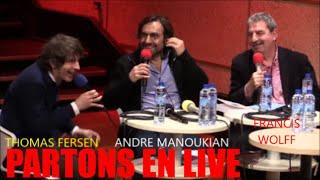 THOMAS FERSEN & ANDRE MANOUKIAN ET ENTREVUE AVEC FRANCIS WOLFF AU STUDIO 105 DE FRANCE INTER DANS L'