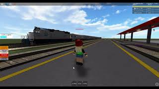 ROBLOX Amtrak Passenger Train at the Union Pacific Mainline