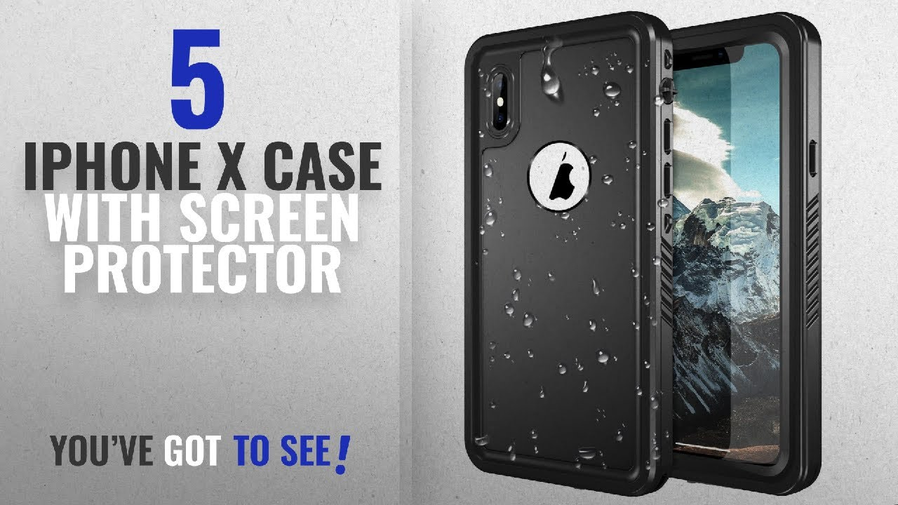 pretty nice 57b36 6f4c5 Top 5 IPhone X Case With Screen Protector [2018 Best Sellers]: iPhone X  Waterproof Case, SNOWFOX