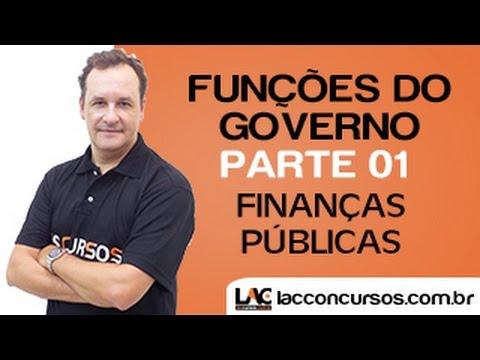 Funções do Governo - Finanças Públicas/ Economia do Setor Público - Parte 01
