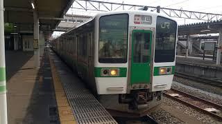 磐越西線719系 会津若松発車