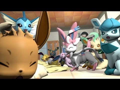 Family photo - Eevee's family 3 (original version) - Pokemon 3D animation