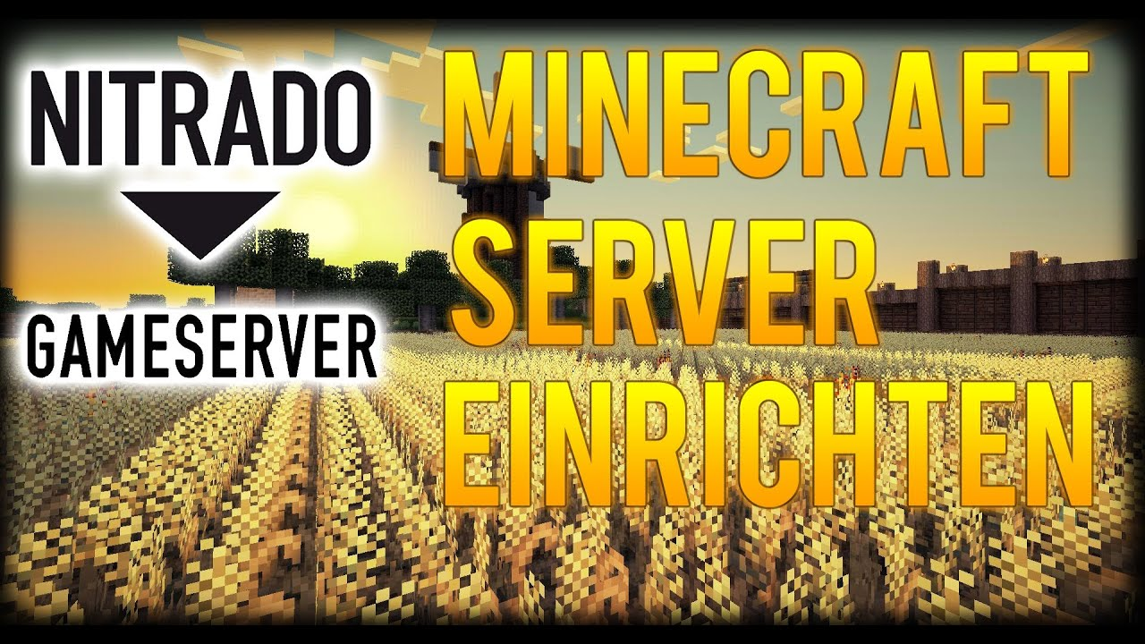 Minecraft SERVER Bei NITRADO EINRICHTEN TutorialHaengerPLAY - Nitrado minecraft server erstellen gratis