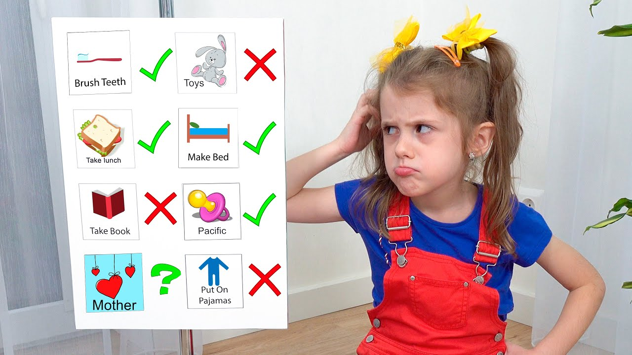 Download Eva want to be a babysister completing a to do list