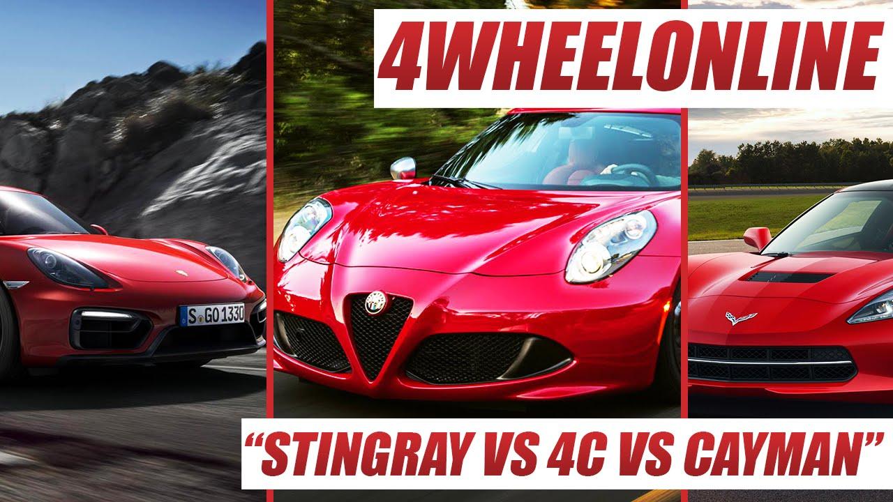 Corvette Stingray Vs Alfa Romeo C Vs Porsche Caymen Best Sports - Best sports car for the money