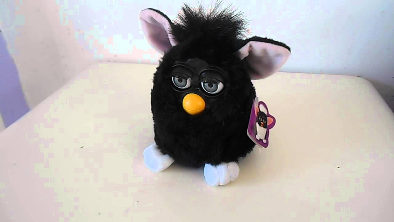 1998 Black Furby By Tiger Toys Youtube