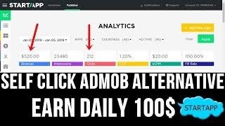 Self click without admob the best alternative for in real baap of admob. this video i will show you how can earn money by doing s...