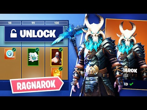 Fortnite Season  Unlocking Ragnarok Skull Permafrost Pickaxe Fortnite Battle Royale