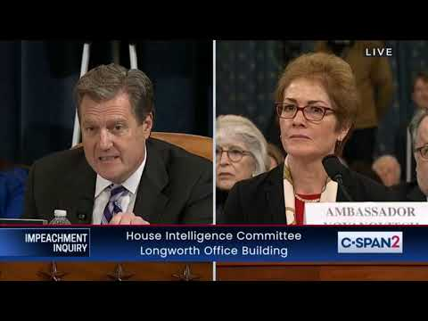 IMPEACHMENT HEARINGS Day 2 Part 12 GOP Mike Turner Questions Ambassador Marie Yovanovitch