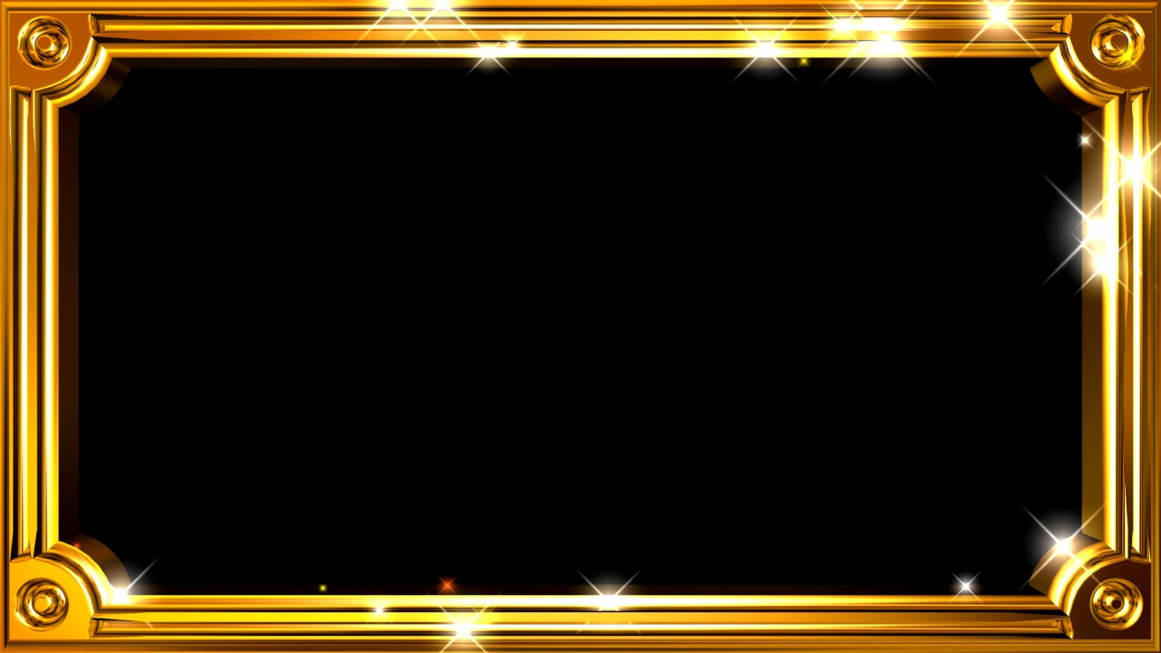 Frame Gold Lights  Motion Background Free HD  YouTube