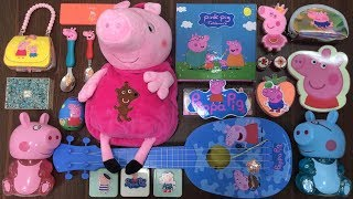 PEPPA PIG Slime   Mixing Makeup and Glitter into Store Bought Slime   Satisfying Slime Videos