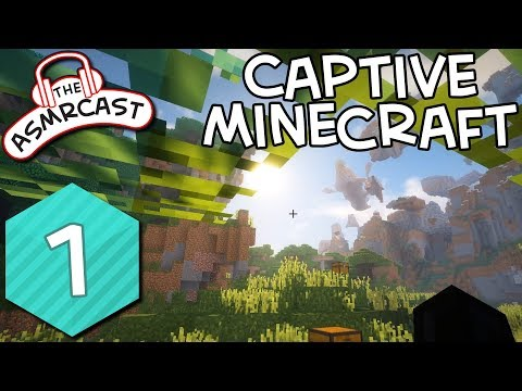 ASMR Gaming: Captive Minecraft - #1 The Start Of A Whispering Adventure Binaural (1080p 60fps)