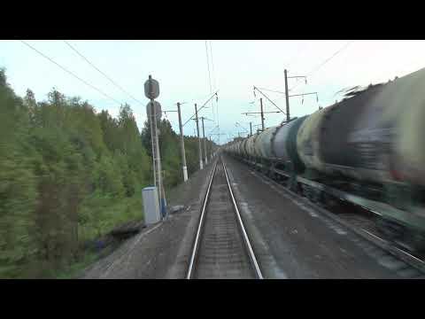 Вид из хвоста поезда - из Няндомы в сторону Плесецка