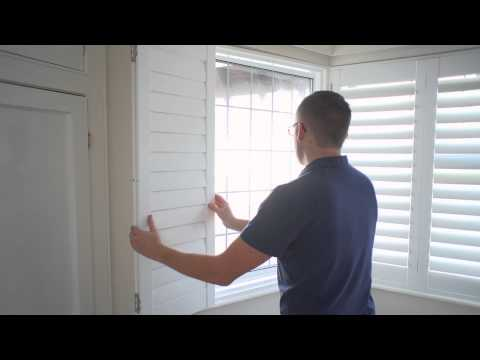 How to install inside mount window shutters