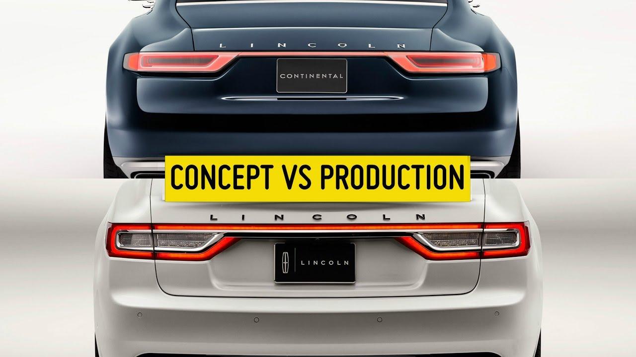 Lincoln Continental Concept Vs Production 2017