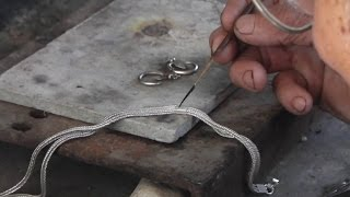 Repair and cleaning the hilltribe silversmiths (Iu-Mienh Silversmith)