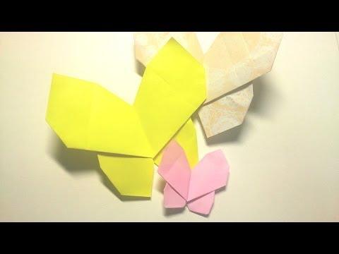 クリスマス 折り紙 折り紙 ちょうちょ : youtube.com