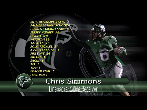 #6-Chris Simmons-OLB-Palmdale High School-2015 Football Highlights-Defense