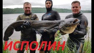 Сом тащил меня 200м Опасная Подводная Охота на Речного Монстра Сома 2020