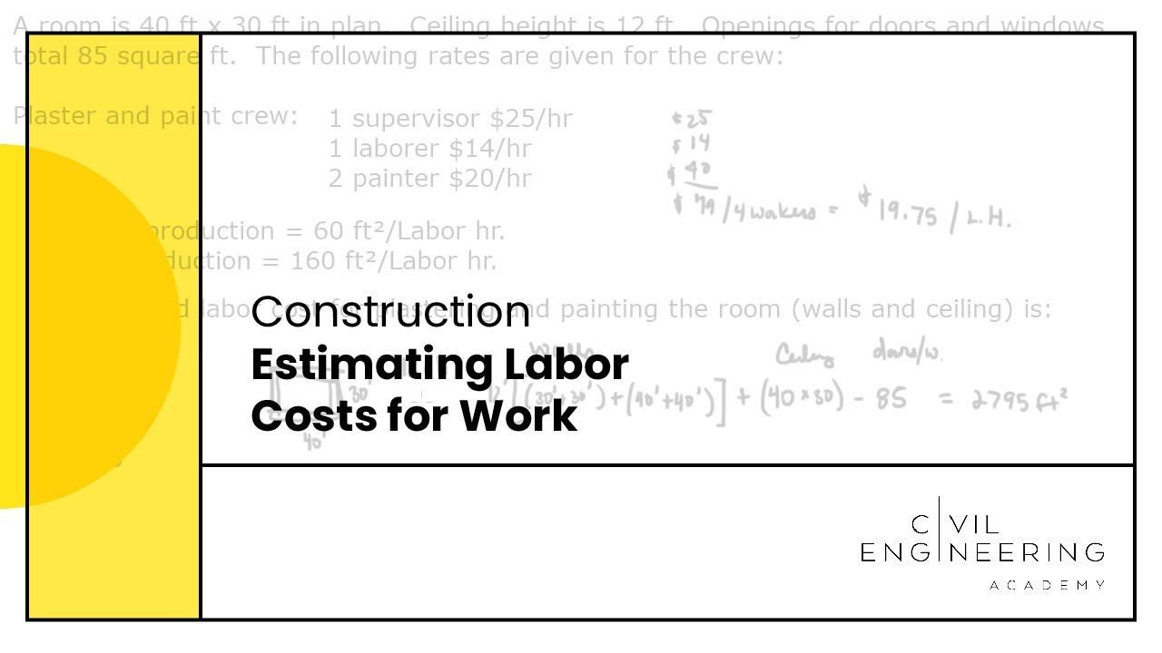 construction estimating labor costs for work construction estimating labor costs for work