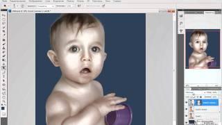 Обработка детского портрета в стиле Джилл Гринберг.avi