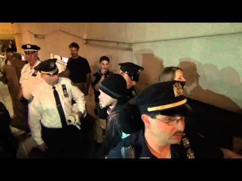 Peaceful OWS activists arrested for sitting on side walk