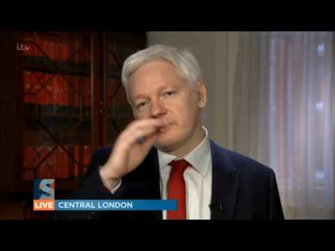 Julian Assange Interview for ITV's Peston on Sunday January 29