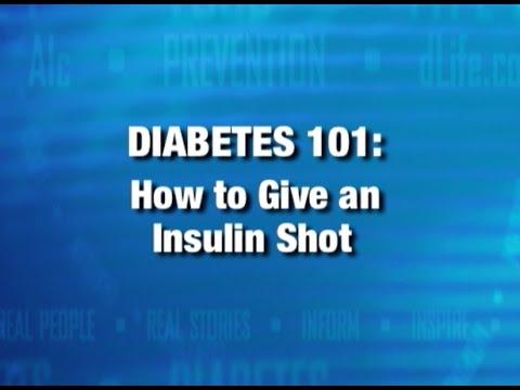 How To Give An Insulin Shot Youtube