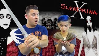 We Found Slendrina's Secret Book, Stole the Vampires Sword And Killed Granny's Spider!! SLENDRINA X