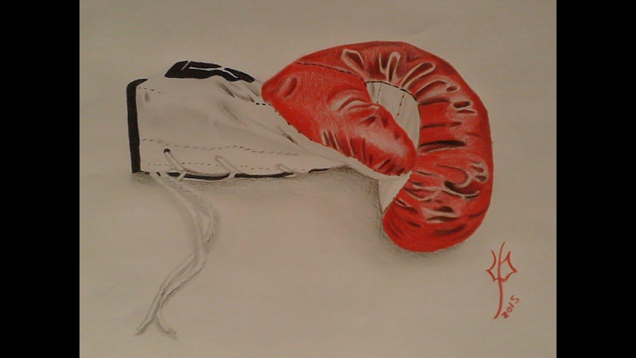 how to draw a boxing glove como dibujar un guante de boxeo