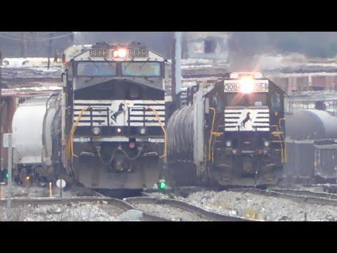 [21] Approach to the NS Brosnan Yard, Part 2/2, Railfanning Macon GA, 02/06/2016 ©mbmars01