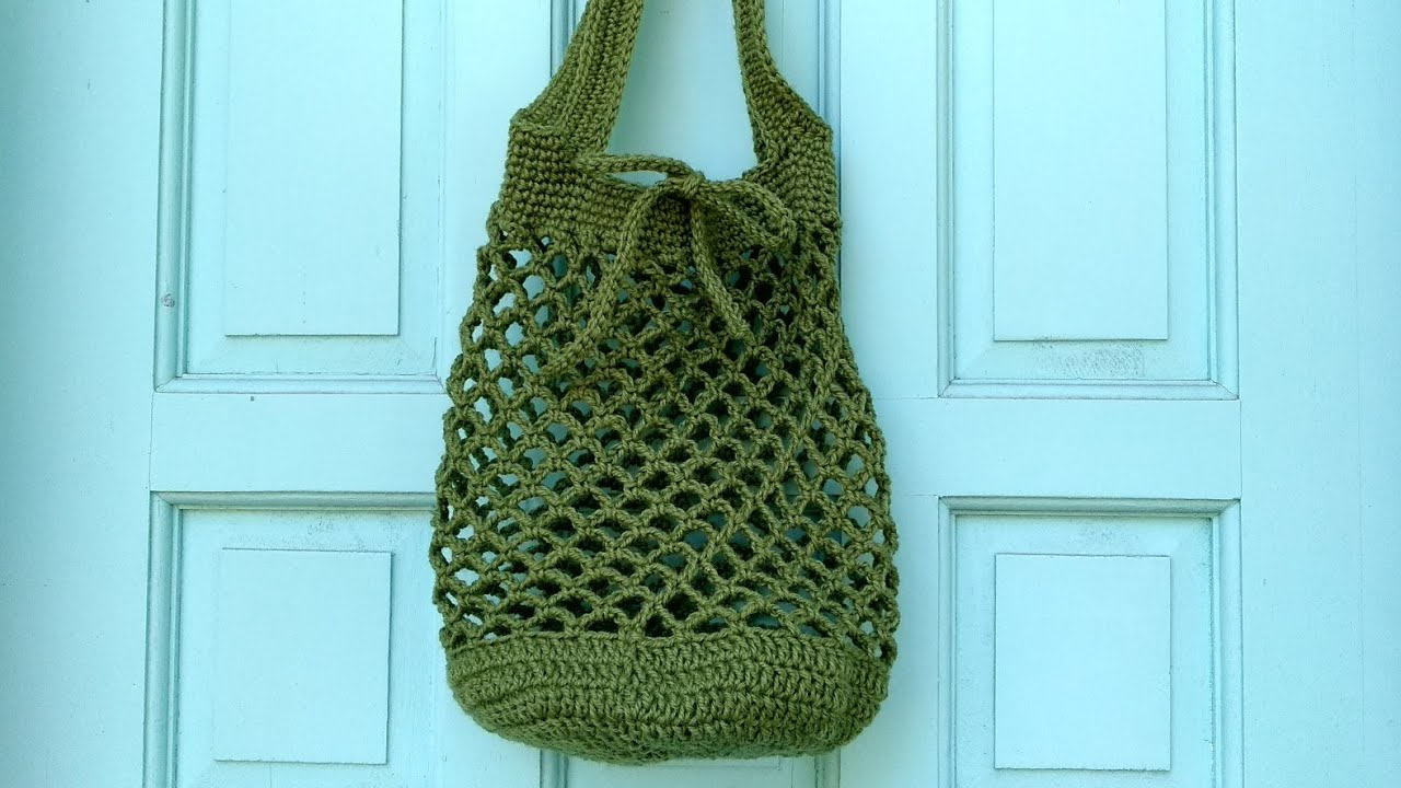 How To Crochet A Market Bag Youtube