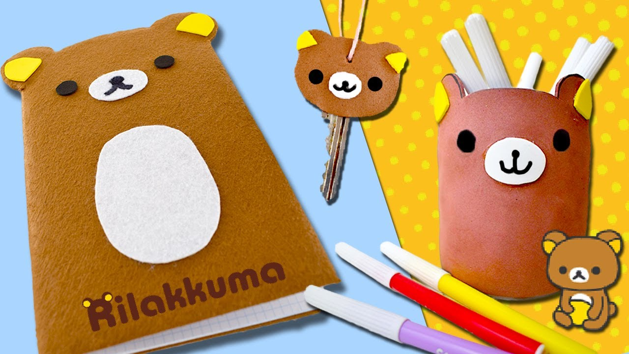 3 manualidades kawaii de rilakkuma decora tu libreta - Manualidades para ninos faciles de hacer y rapidas ...