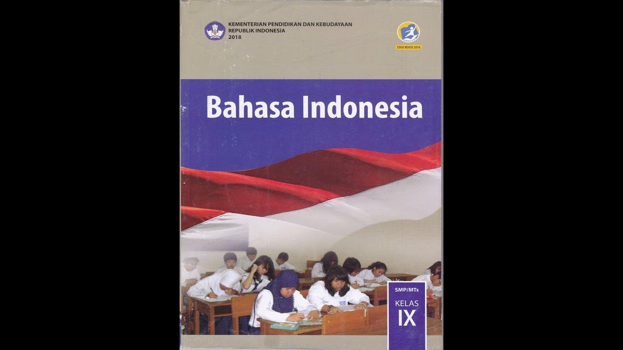 Buku Bahasa Indonesia Kelas 9 Smp Dwieka Youtube