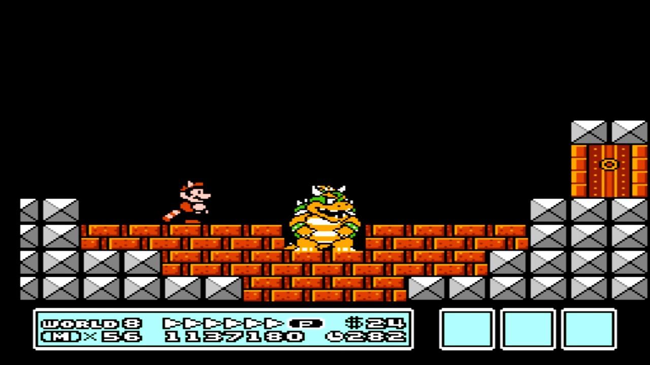 Super Mario Bros 3 Nes Level 8 Bowser S Castle Youtube