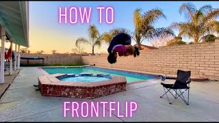 THE EASIEST WAY TΟ LEARN A FRONTFLIP!