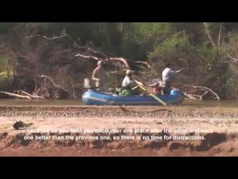 Río Juramento dorado fly fishing tutorial with Tuna Labarta. Salta, Argentina