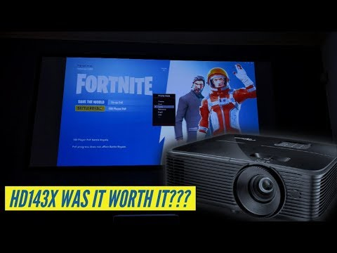 Fortnite On A Projector - Optoma HD143X 21 Days Later Review