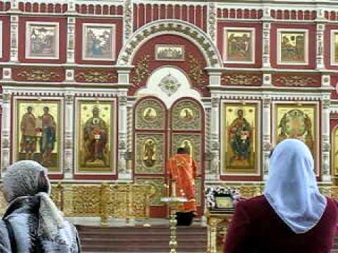 Khabarovsk Church of the Transfiguration singing