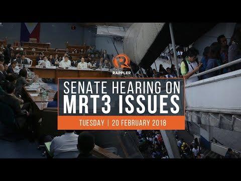 LIVE: Senate hearing on MRT3 issues, 20 February 2018