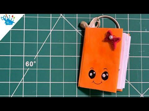 DIY One Page Notebook Keychain   Handmade Mini Diary   Creative