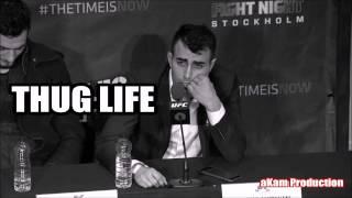 THUG LIFE - Makwan Amirkhani UFC Post Fight Press Conference Sweden
