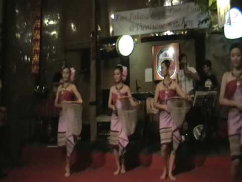 Traditional folkloric dance  from Laos  & Issan at Khrua Vientienne,Bangkok