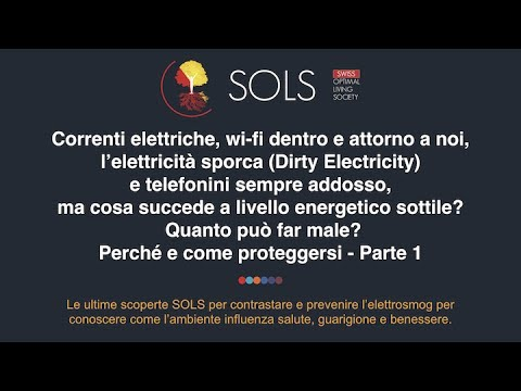 Correnti elettriche, wi-fi, l'elettricità sporca (Dirty Electricity) e telefonini - Parte 1