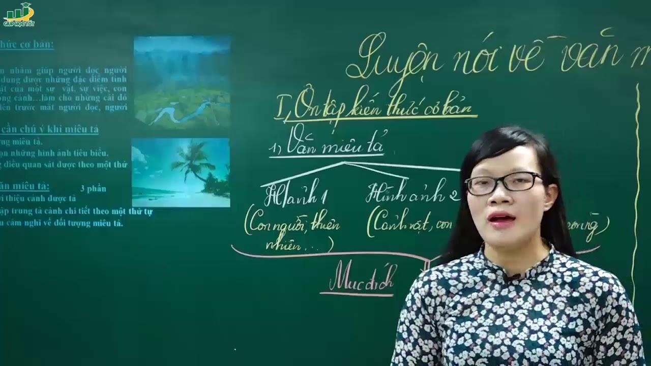 Ngữ Văn Lớp 6 –Bài giảng Luyện nói về văn miêu tả ngữ văn 6|Rèn kĩ năng làm văn miêu tả|Cô Lê Hạnh