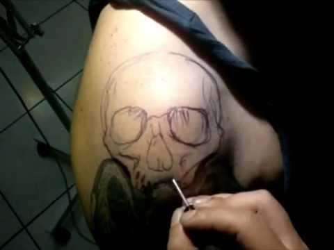 PROKI TATTOO freehand skull