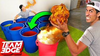 Giant Spicy Cup Pong! | Whole Chicken!!